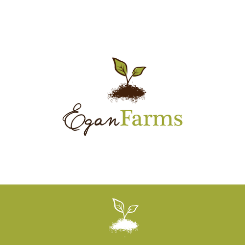 Organic logo design for Egan farms