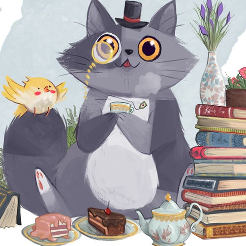 Cat in a Tiny Top Hat