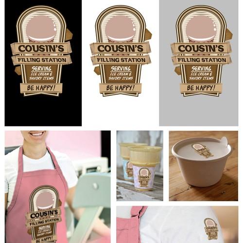 Airstream Ice Cream Company Logo