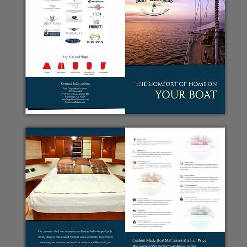 Bi-Fold Postcard For Custom Boat Mattress Company