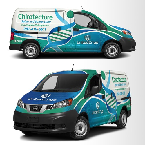 Chirotectue van wrap design