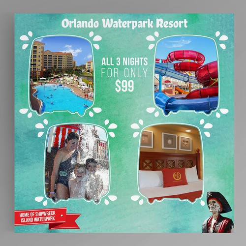 Facebook Post for a Waterpark Resort