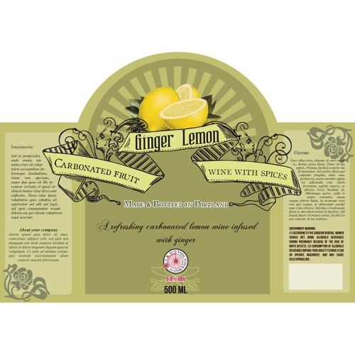 Vintage-inspired & hip carbonated wine bottle labels