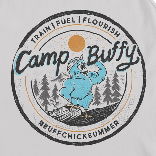 Camp buffy vintage drawing style
