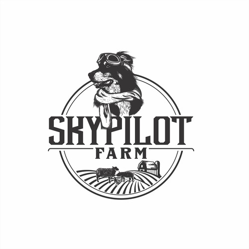 Hand drawn logo for farm
