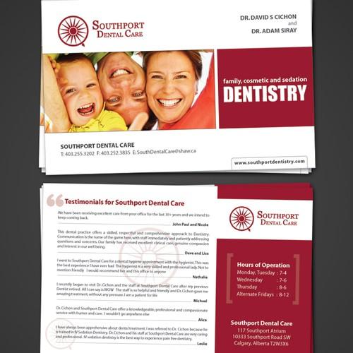 Dental Care Post Card Design