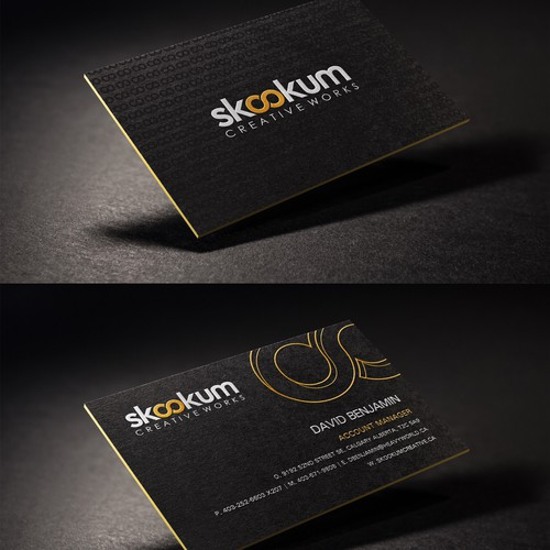 Create and creative business card for a creative company