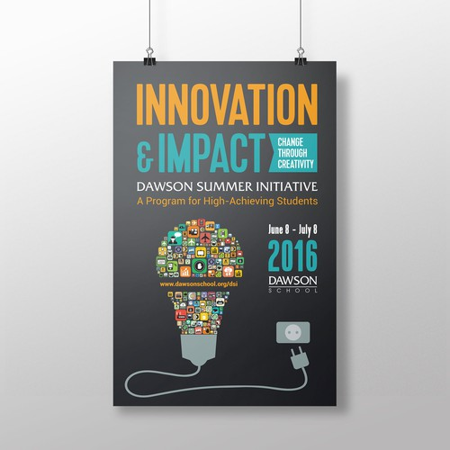 Design signage for summer program exploring INNOVATION & IMPACT
