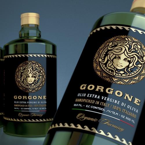 Label olive oil Gorgone