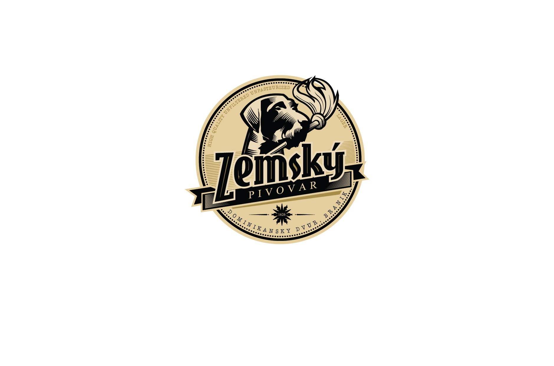 Create a logo for an exciting new craft brewery in Prague, Czech Republic