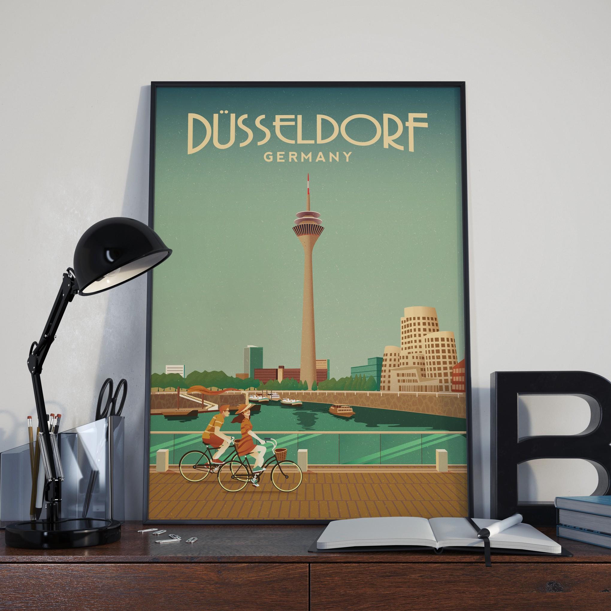 Kreiere das schönste Düsseldorf Poster jemals!