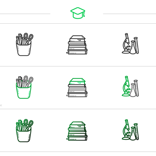 "Set Icons ""Back to School"""