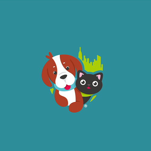 Paws Around Town logo concept