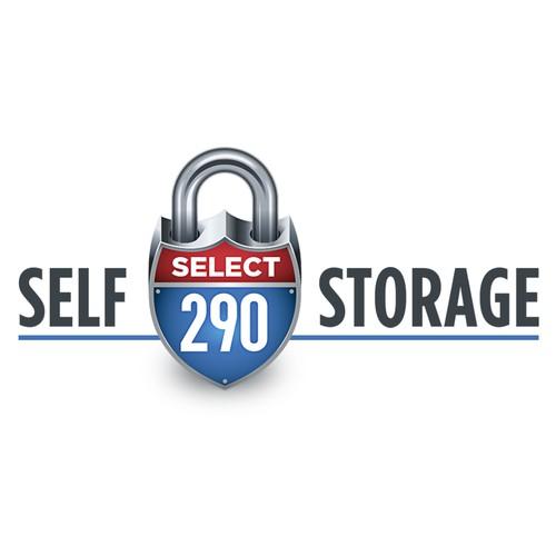 Logo for a self-storage units company