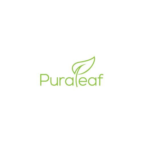 Pura Leaf Logo Design