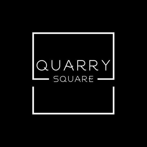 Bold square retail fashion logo design