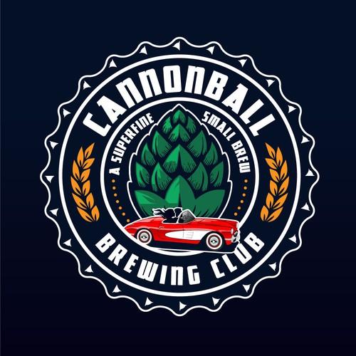 Bold logo for brewing club