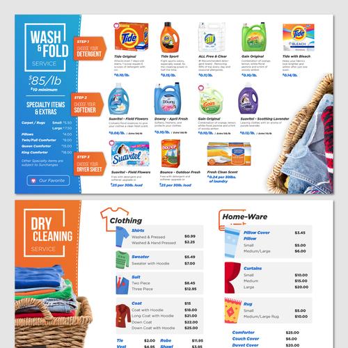 Laundry Menu Design