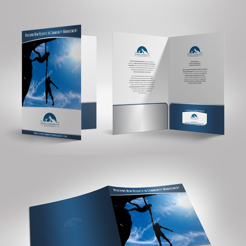 Folder & business card design