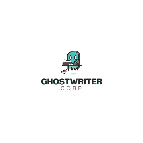 Playful logo for writing service