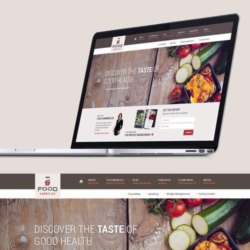 Food Blog Landing Page Design