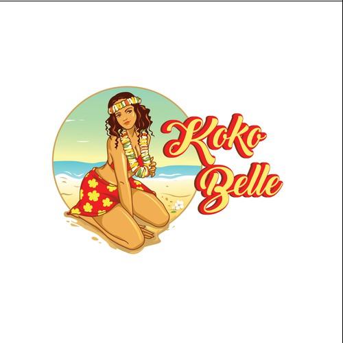 bold logo concept for KOKO BELLE