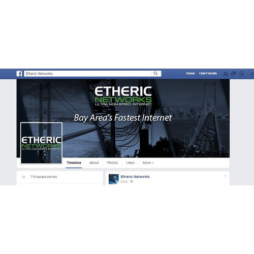 Custom Facebook Cover for High-Speed Internet Company