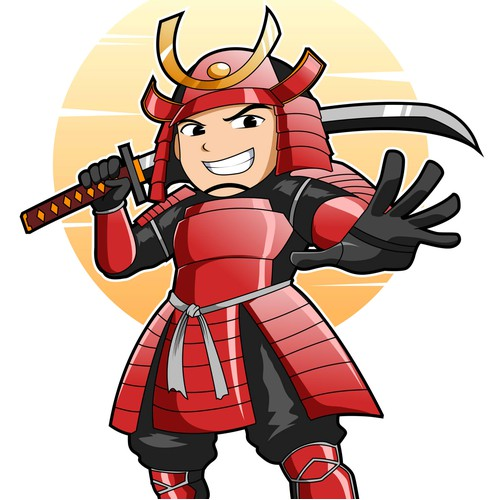 Work Samurai Mascot