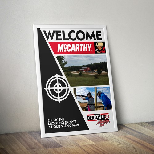 Corporate Welcome Poster from Deadzero Shooting Park