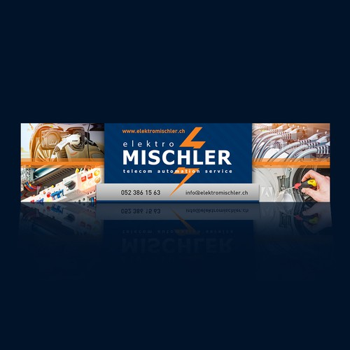 Banner for electric services company