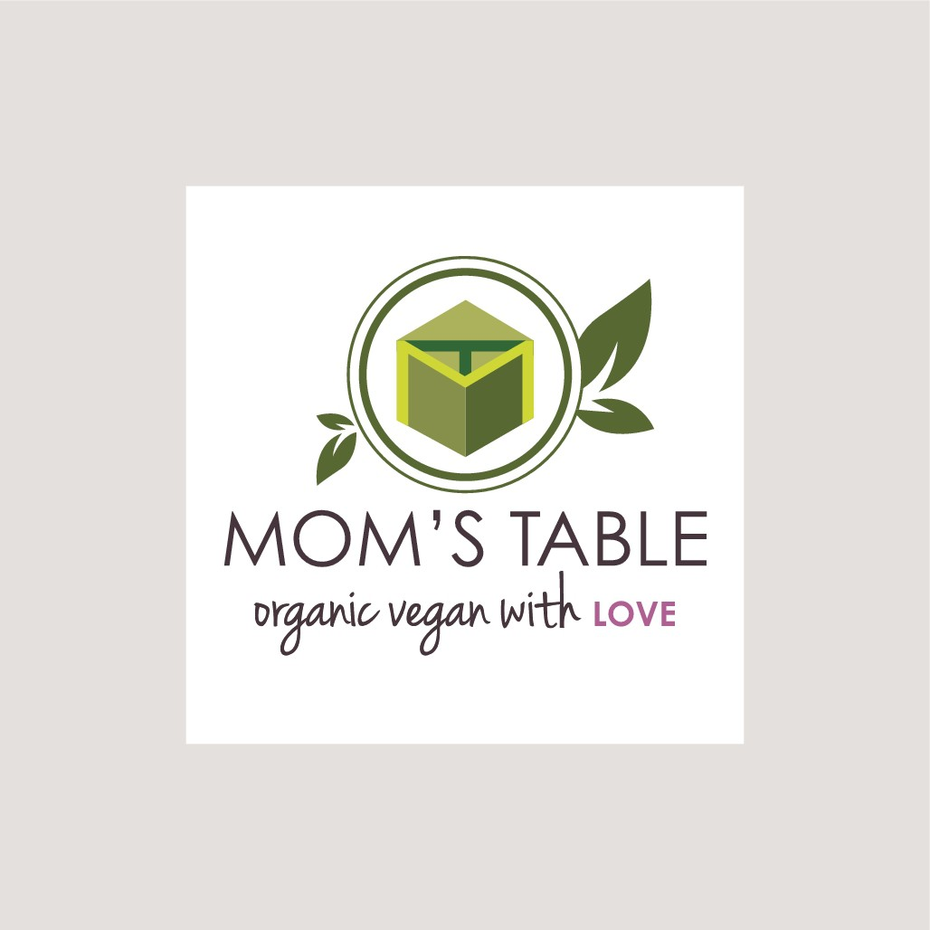 """we are looking for a great logo for our organic vegan restaurant """"mom's table"""""""