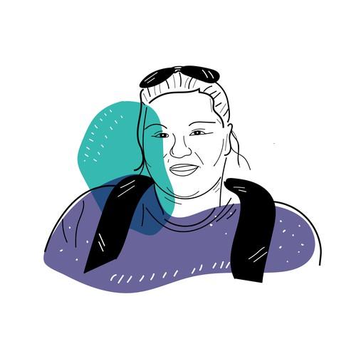 A face illustration for designer's personal website!