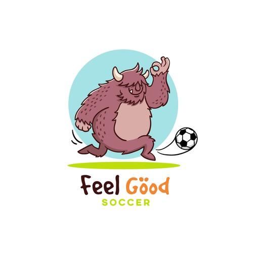 A fun logo for a Soccer (football) league