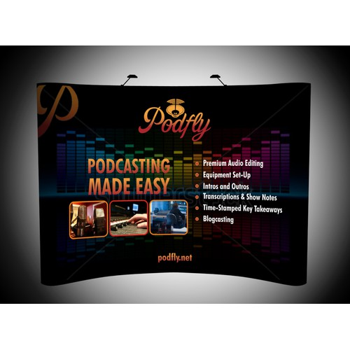 Create a Trade Show Display for the Podcasting industry
