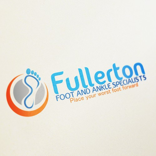 Create the next logo and business card for Fullerton Foot and Ankle Specialists