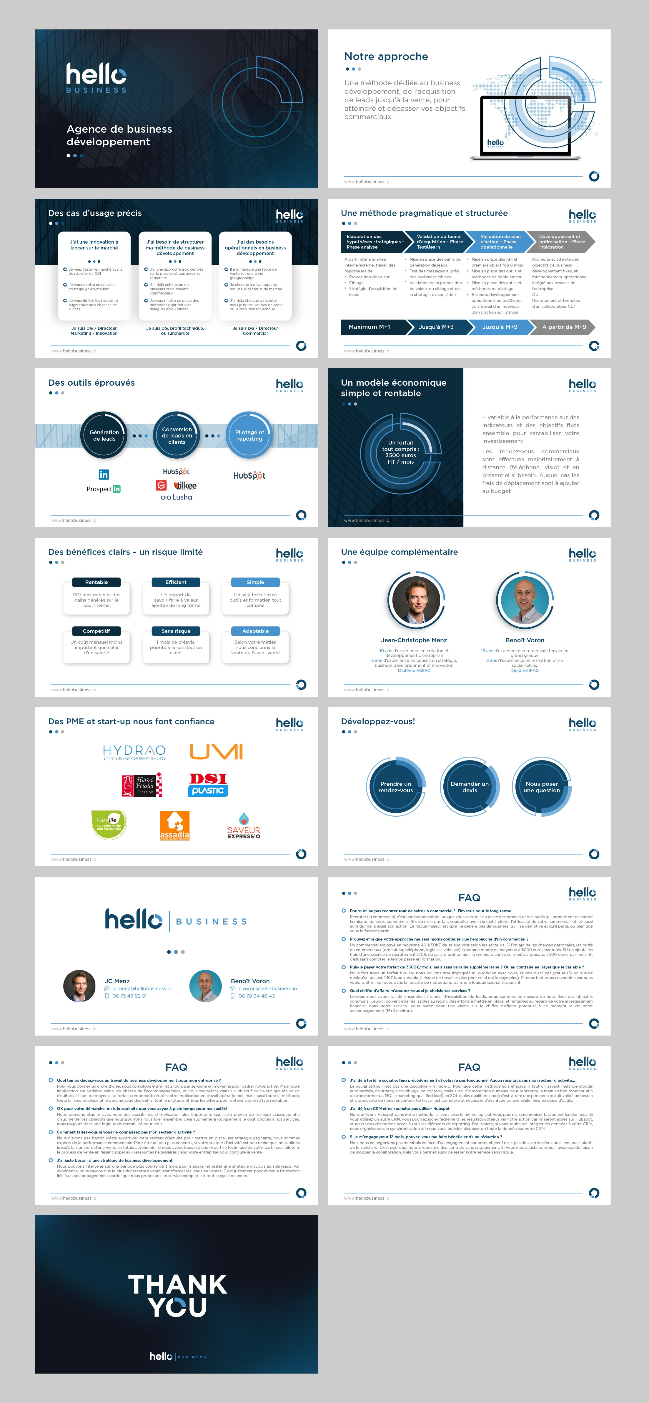 Hello Business powerpoint presentation