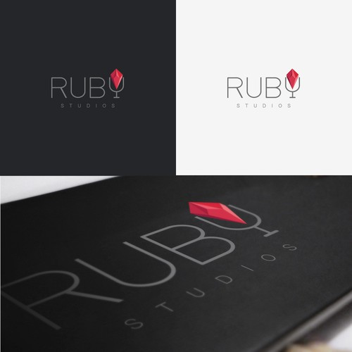 Logo concept for 'Ruby Studios'