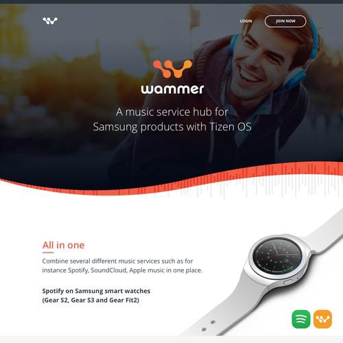 Website Design for Wammer