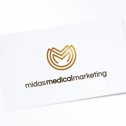 Midas Medical Marketing Logo Design