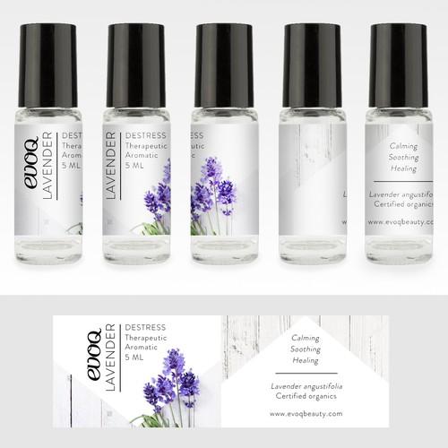 Lavender Essential oil label
