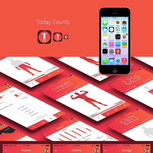 Creative yet Simple iPhone Fitness app