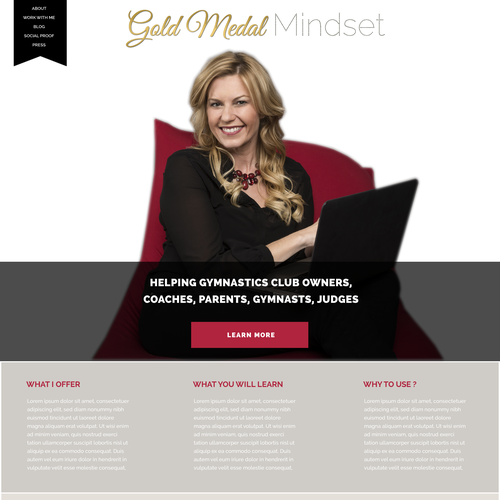 Gold Metal Mindset wordpress theme design