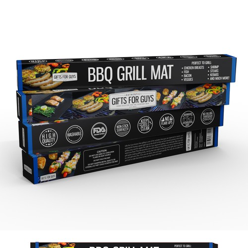 Create new grill mat packaging for Gifts for Guys