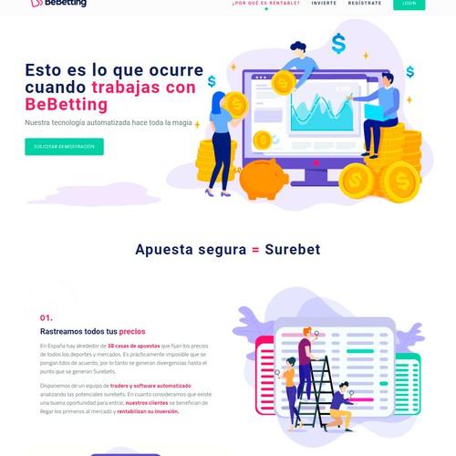 Illustration based website