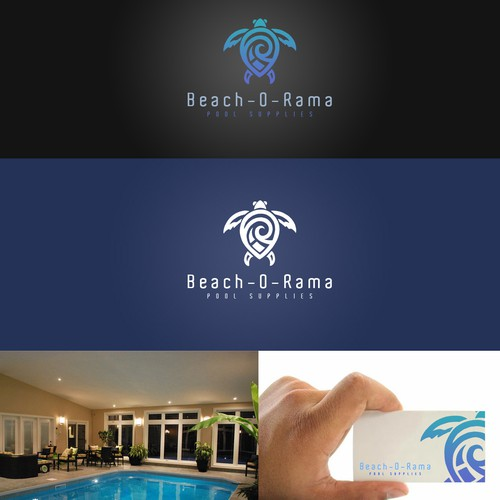 Beach-O-Rama logo design