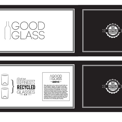 Create the next packaging or label design for Good Glass