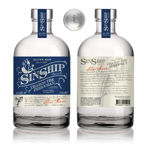 SinShip Rum Spirit design