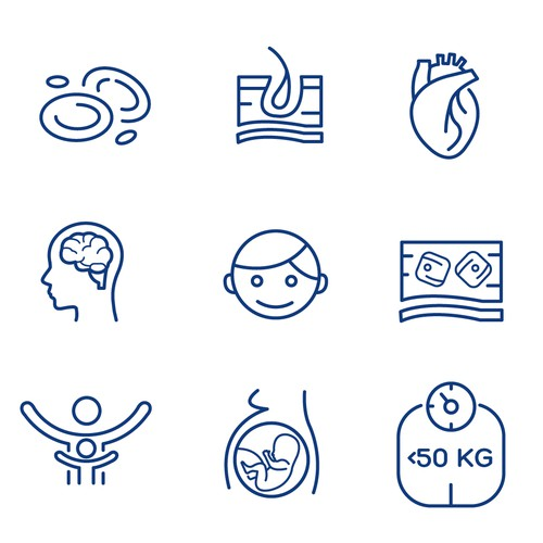 Medical website icons