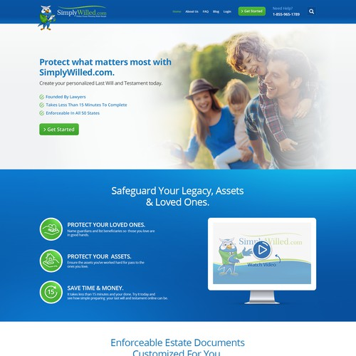 Simplywilled Homepage redesign