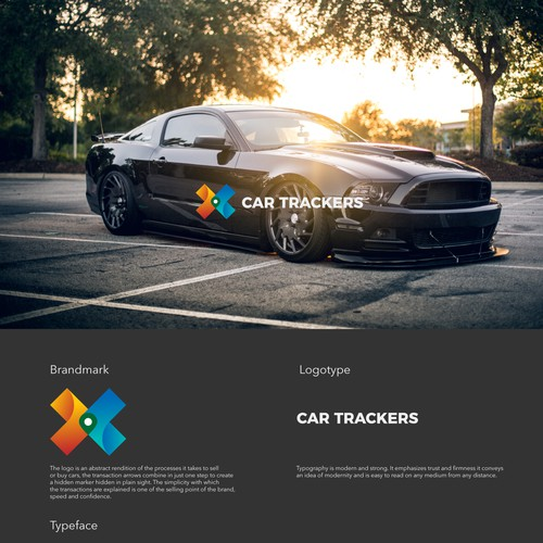 Car tracking logo